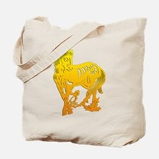horseA33yelloweffect Tote Bag