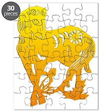 horseA33yelloweffect Puzzle