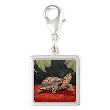 StephanieAM Tortoise Silver Square Charm