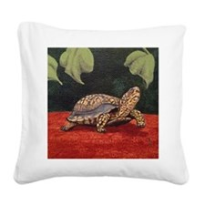 StephanieAM Tortoise Square Canvas Pillow