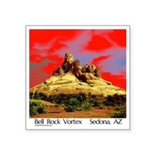 "Bell Rock Vortex Sedona, AZ Square Sticker 3"" x 3"""