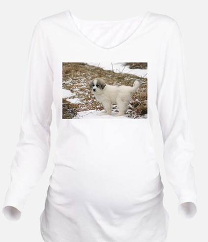 Great Pyrenees Puppy Long Sleeve Maternity T-Shirt