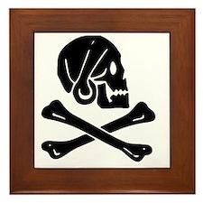 Henry Every Jolly Roger:Pirate Flag Bl Framed Tile
