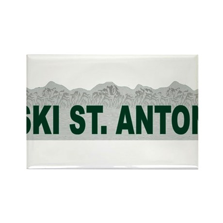 Ski St. Anton, Austria Rectangle Magnet (100 pack)