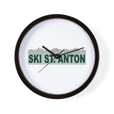 Ski St. Anton, Austria Wall Clock