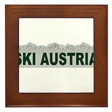 Ski Austria Framed Tile