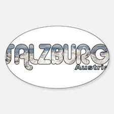 Salzburg, Austria Oval Decal