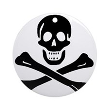 Black Sam Bellamy Jolly Roger:Pirat Round Ornament