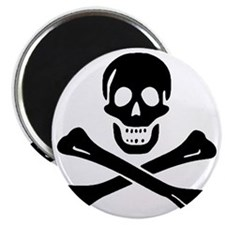 Black Sam Bellamy Jolly Roger:Pirate Flag B Magnet