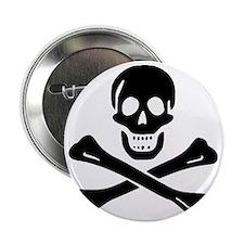 "Black Sam Bellamy Jolly Roger:Pirate  2.25"" Button"