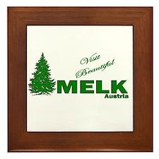 Visit Beautiful Melk, Austria Framed Tile