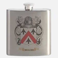 Walsh Family Crest (Coat of Arms) Flask
