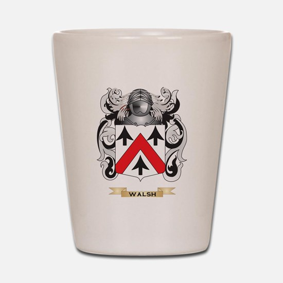 Walsh Family Crest (Coat of Arms) Shot Glass