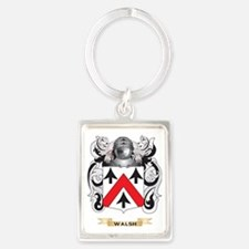 Walsh Family Crest (Coat of Arms Portrait Keychain