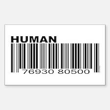 Human Barcode Rectangle Decal