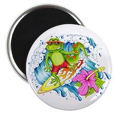 Surfing Gecko Lizard Magnet