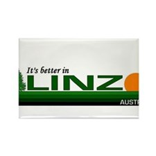 It's Better in Linz, Austria Rectangle Magnet