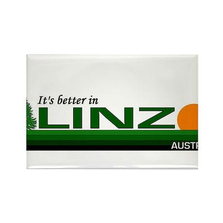 It's Better in Linz, Austria Rectangle Magnet (100