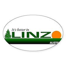 It's Better in Linz, Austria Oval Decal