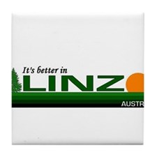 It's Better in Linz, Austria Tile Coaster