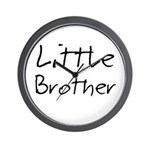 Little Brother (Black Text) Wall Clock