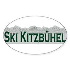 Ski Kitzbuhel, Austria Oval Decal