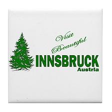 Visit Innsbruck, Austria Tile Coaster