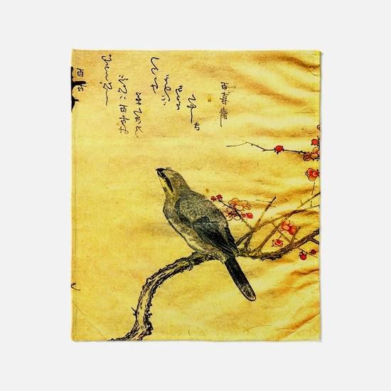 Funny Kanagawa Throw Blanket