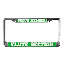 Flute Section License Plate Frame