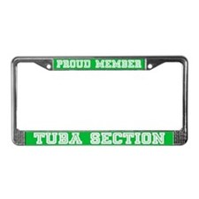 Tuba Section License Plate Frame