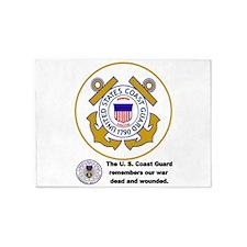 Coast Guard Remembers 5'X7'area Rug