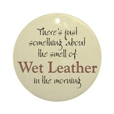 Wet Leather Ornament (Round)