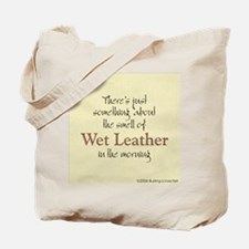 Wet Leather Tote Bag