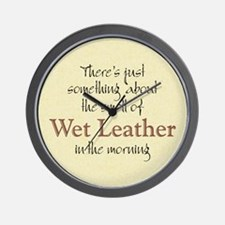 Wet Leather Wall Clock