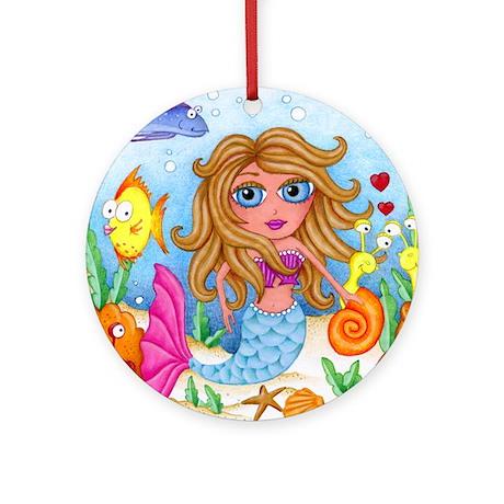 Ocean Mermaid Ornament (Round)