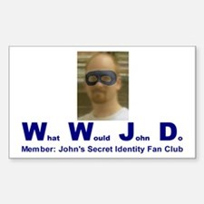 What Would John Do Rectangle Decal