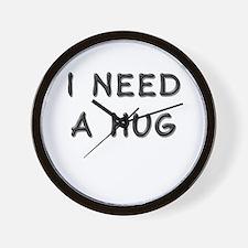I need a hug Wall Clock