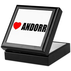 I Love Andorra Keepsake Box