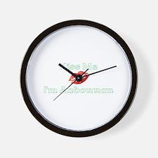Kiss Me I'm Andorran Wall Clock
