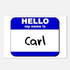 hello my name is carl  Postcards (Package of 8)