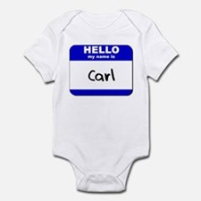hello my name is carl  Infant Bodysuit