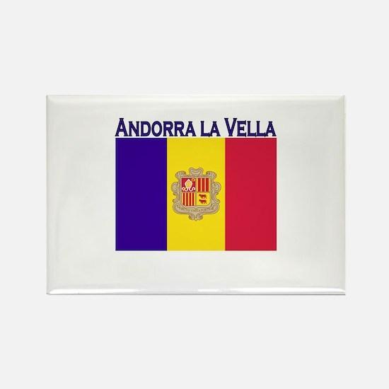 Andorra La Vella Rectangle Magnet