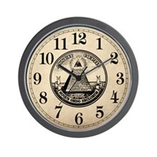 Steampunk Illuminati New Order Wall Clock