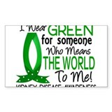 Kidney disease green ribbon 10 Pack