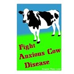 Eight Anxious Cow Disease Postcards