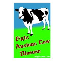 Eight Anxious Cow Disease Postcards