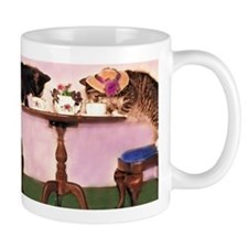 Valentine Tea Kitties Mugs