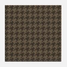 Brown Tones Houndstooth Pattern Tile Coaster