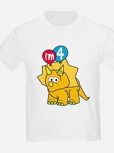 """""""I'm 4"""" Dinosaur T-Shirt"""