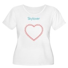 Skylover Relative Work Heart Plus Size T-Shirt